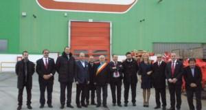 Vizita Ambasadorului Italiei la Maschio Gaspardo Romania in Chisineu Cris, alaturi de presedintele Maschio Gaspardo Mirco Maschio si domnul primar Gheorghe Burdan